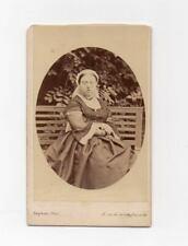 QUEEN VICTORIA British Royalty 1860's albumen cdv photo by BINGHAM Paris France