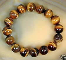 Natural8mm African Tiger's Eye Gem Beads Bracelet