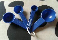 4 piece blue plastic measuring spoon  set kitchen utensil baking tool
