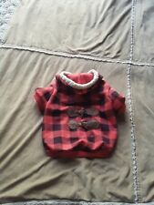 Top Paw Plaid Hoodie- Medium  Xs Dog cat animals Winter Wooden Button Details