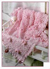 (816) Baby Rose Blanket Afghan Crochet Pattern
