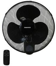 "Daewoo 16"" Oscillating Wall Mounted Air Cool Fan with Timer & Remote - Black"