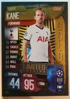 2019/20 Match Attax Soccer Card - Harry Kane Gold Limited Edition LE6G
