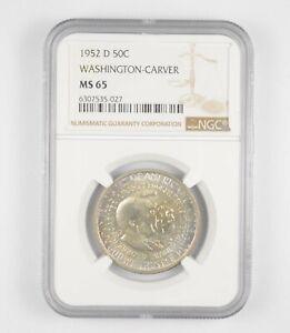 MS65 1952-D Washington-Carver Commemorative Half Dollar - Graded NGC *036