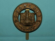 RARE DEVONSHIRE REGIMENT PAGRI / PUGAREE BADGE - 100% ORIGINAL GUARANTEED!!!