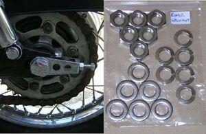 Kawasaki Z1/Z650/Z900/Z1000 - Rear Sprocket Nuts & Washers Set  Stainless Steel