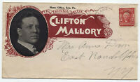 1906 Clifton Mallory actor color ad cover Salamanca NY [y4021]