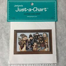 "Janlynn Just A Chart Counted Cross Stitch Snowman Collector 13"" x 8"""