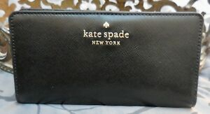 Kate Spade ~STACI Large Slim Bifold Wallet~Leather~BLACK~NWT $149