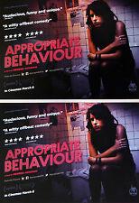 APPROPRIATE BEHAVIOUR FILM MOVIE POSTCARDS X 2 - DESIREE AKHAVEN