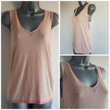 Size 10 Top F&F Brown Casual Sleeveless Soft Thin Knit Great Condition Women's