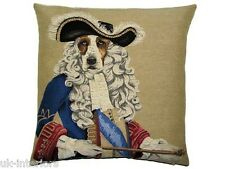 "18"" Richelieu Three Musketeers Woven Belgian Tapestry Cushion 45cm Belgium Dog"