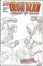 Iron Man New York EXC NYCC Legacy of Doom #1 VARIANT Sketch cvr. 2008 High grade