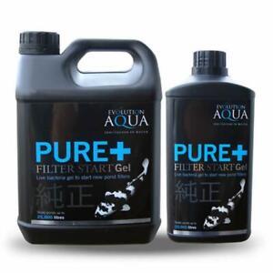 Evolution Aqua PURE+ Filter Start Gel 1L /2.5L Water Treatment Live Bacteria