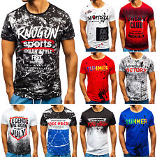 T-Shirt Tee  Rundhals Kurzarm Classic Sport Print Herren Mix BOLF 3C3 Motiv WOW