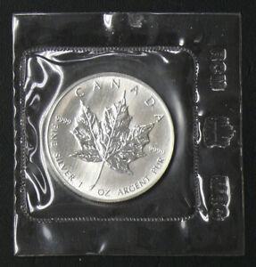 1989 RCM Sealed Silver Canadian $5 Maple Leaf