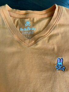 BOYS PSYCHO BUNNY T SHIRT - ORANGE - SIZE MEDIUM - 10/12