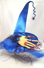 WITCH Hat with Hand and Spiders Fabric Halloween Costume Accessory NEW Wicked