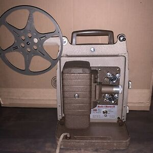 Vintage Bell & Howell 8mm Movie Projector ~ Model 253 Needs New Bulb