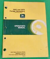 John Deere 3950 & 3970 Forage Harvesters Operator's Manual  OME-82551