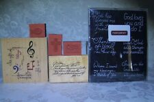Scripture and Christian Rubber Stamps Lot of (11) Nib and Unused Stamps