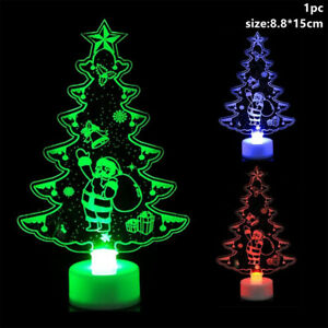 Christmas Candle with Holder LED Tea Light Candles Xmas New Year Home Decoration