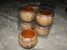 INTERIOR ACCENTS 8 PC SOUTHWESTERN STYLE NAPKIN RINGS SET