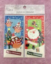 2x Weihnachtskarten-Grußkarte mit Geldeinschub mit Kuvert, Merry Christmas.   W8