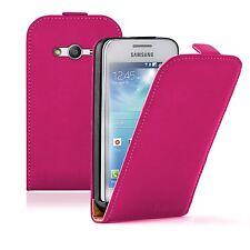ULTRA SLIM COVER CUSTODIA pelle ROSA per Samsung Galaxy Ace 4 SM G357 (+2 film)