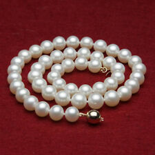 "natural on sale 6-7mm white fresh water gems beads pearls necklace 18"" wholesale"