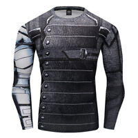Men's Fitness Long Sleeve T-shirt Compression Quick Dry Clothing Breathable Tops