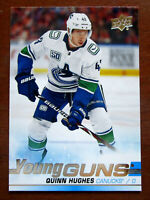 2019-20 Upper Deck Hockey Young Guns #249 Quinn Hughes Canucks RC Rookie Mint