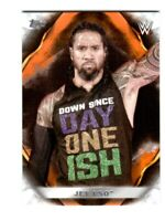 WWE Jey Uso #34 2019 Topps Undisputed Orange Parallel Card SN 62 of 99