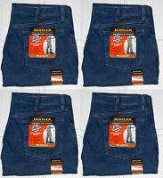 Rustler By Wrangler Men's Relaxed Fit Straight Leg Blue Heavyweight Denim Jeans