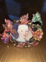 EXQUISITE JAY STRONGWATER FLOWER BUTTERFLY STRAWBERRY CRYSTAL ENAMEL MINI FRAME