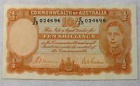 AUSTRALIA 10/- Shilling Pre-Decimal Banknote Sheehan McFarlane R12 BEAUTIFUL