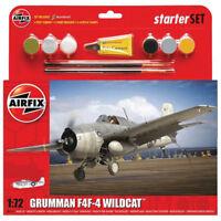 AIRFIX A55214 Grumman F4F-4 Wildcat Starter Set 1:72 Aircraft Model Kit