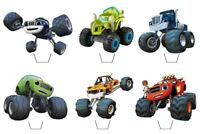 Blaze and the Monster Machines Edible Wafer Cup Cake Toppers Standing or Disc