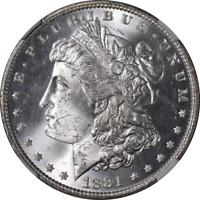 1881-P Morgan Silver Dollar NGC MS63 Blast White Superb Eye Appeal Strong Strike