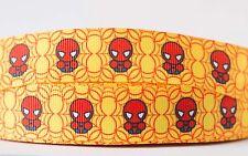 1M X 22mm Grosgrain Ribbon Craft DIY Cake Decoration Hair Bows - Spiderman