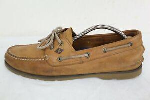 Sperry Top-Sider Men's Leeward 2-Eye Sahara Tan Boat Shoes Size 11.5M
