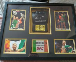 Connor mcgregor Signed MMA Glove Photo Frame And Tyson Fury Boxing Glove Frame