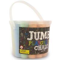 20pc Chunky Fat Jumbo Playground Chalk Pavement Sidewalk Coloured Blackboard