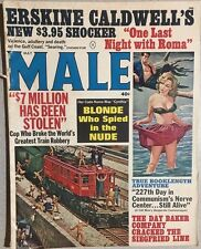MALE Magazine May 1964 Mort Kunstler cover, Erskine Caldwell