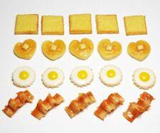 Doll Mini Tiny Food Breakfast Meat Kitchen Set of 5 Dollhouse Miniature Bacon