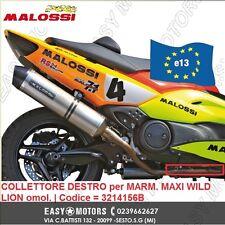 MALOSSI COLLETTORE DESTRO per MARMITTA SCARICO MAXI WILD LION YAMAHA TMAX T MAX