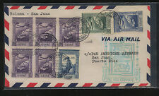 Portugal Guine   Bolama to Puerto Rico flight cover  1941        KEL09131