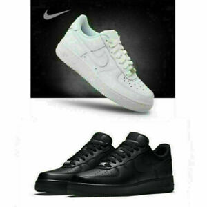 Mens Womens AIR FORCE 1'07 Sneaker Sport Shoes Sneakers White Leather UK stock3