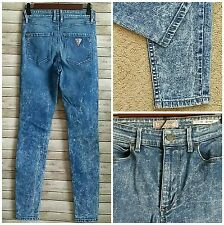 Guess Jean Women Sz 26 1981 Sexy Skinny VTG Denim Pant High Rise Mom Acid Washed