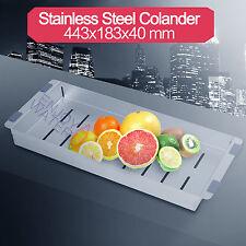 Kitchen Sink Colander Drainer Tray Stainless Steel 304 LEAD FREE Holder Utensil